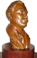 Bust of Governor Warner